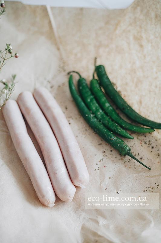 Сосиски из мяса Индейки ТМ Шмат мяса