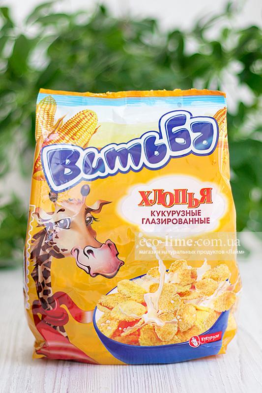 "Хлопья кукурузные ""Витьба"" с сахаром, 330г"