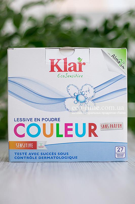 КЛАР (Klar) Органический стиральный порошок Цвет