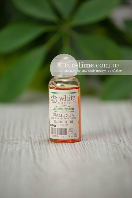 """Пробник шампунь """"Целебные травы"""" White Mandarin, 30 мл"""