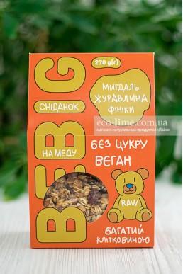 Завтрак с медом, миндаль-клюква-финик BeBig, 270 гр