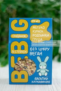 Завтрак со стевией, яблоко-курага-изюм-груша BeBig, 270 гр