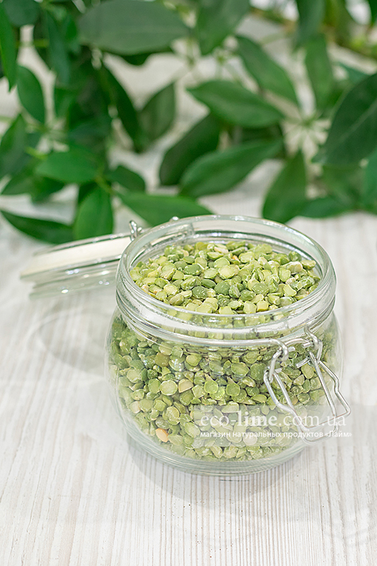 Горох сушеный зелный