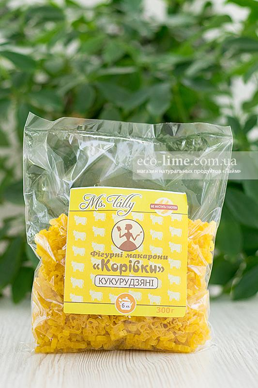 Макаронные изделия Коровки кукурузные БЕЗ ГЛЮТЕНА 0,3 кг, MsTally