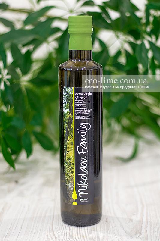 Масло оливковое нефильтрованное Extra Virgin Nikolaou Family AGOURELAIO (Греция), 500 мл