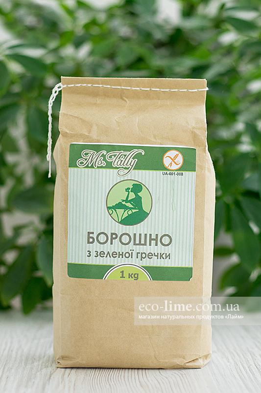 Мука из зеленой гречки БЕЗ ГЛЮТЕНА 1 кг, MsTally