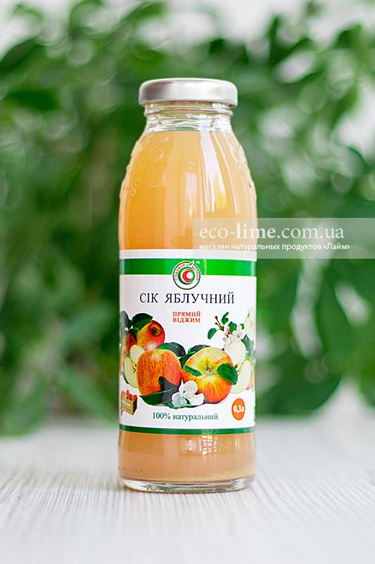 Сок яблочный натуральный 0,3