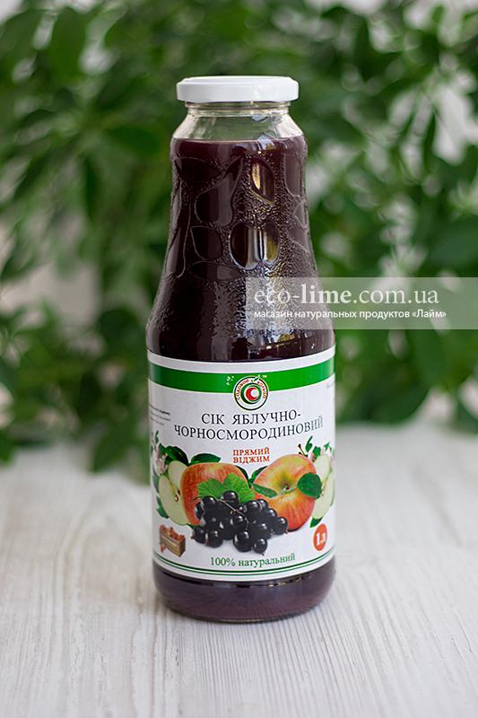 Сок яблоко-смородина натуральный 1,0