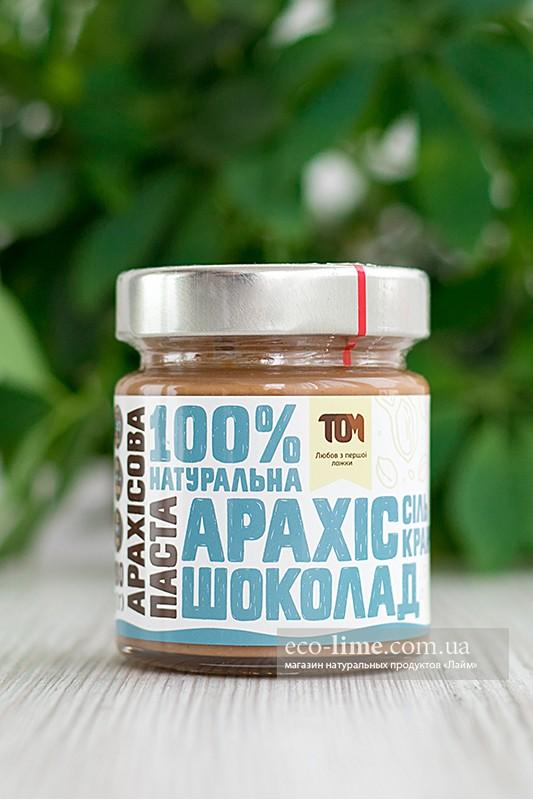Арахисовая паста ТОМ кранч с шоколадом