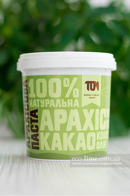 Арахисовая паста ТОМ с какао и кокосовым маслом (500 г)
