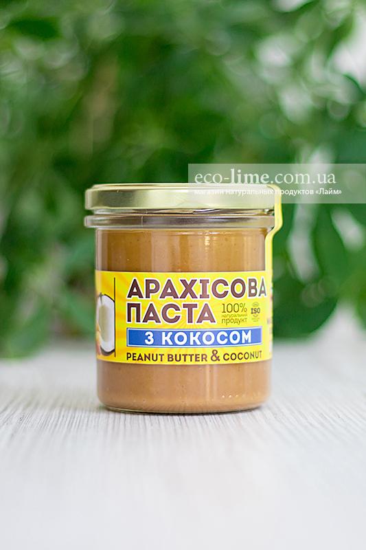 """Арахисовая паста """"С кокосом"""" (300 г) Master Bob"""