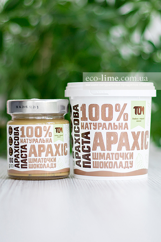 Арахисовая паста ТОМ с кусочками шоколада