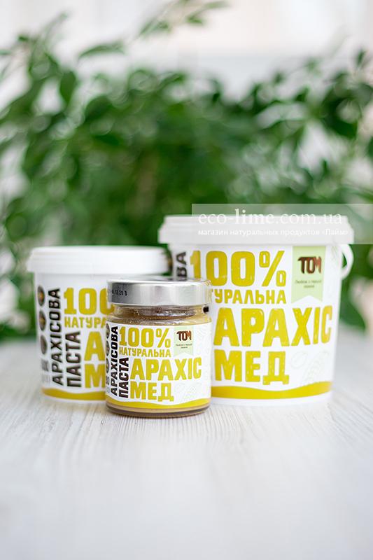 Арахисовая паста ТОМ с медом