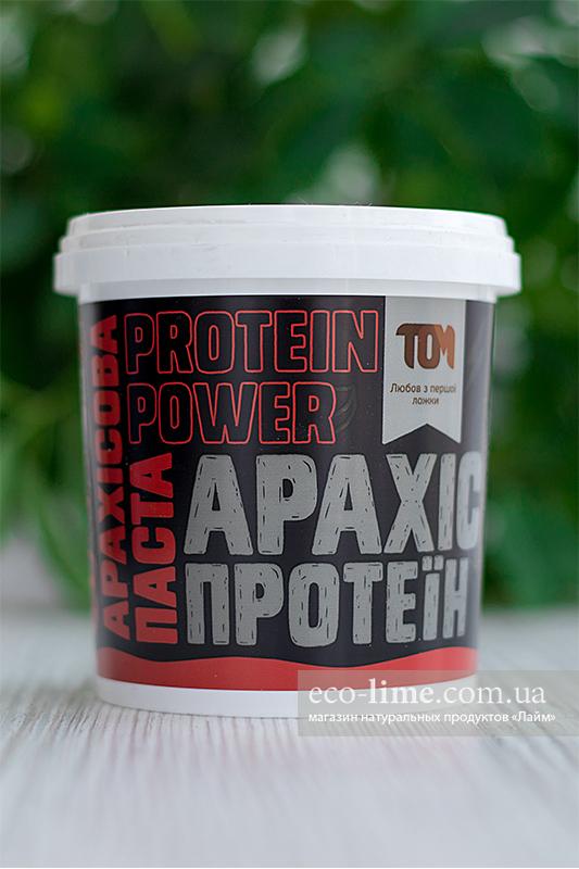 Арахисовая паста ТОМ с протеином (500 г)