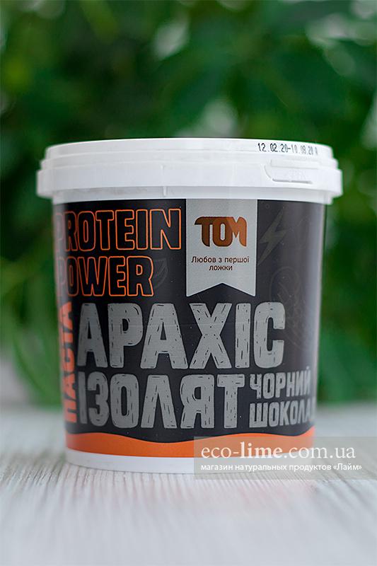 Арахисовая паста ТОМ с сывороточным изолятом и шоколадом (500 г)