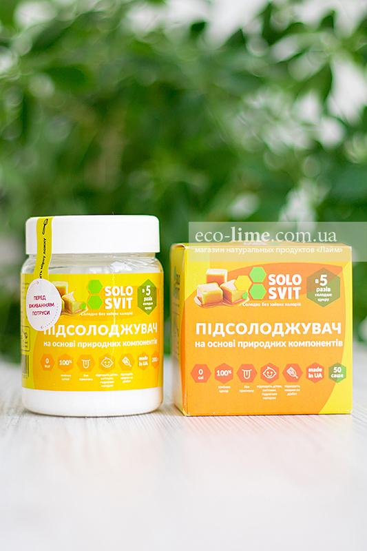 Подсластитель желтый Солосвит (аналог фитпарад №7), банка 200 г