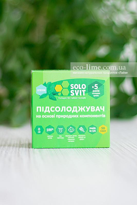 Подсластитель зеленый в САШЕ Солосвит+ (аналог Фитпарад №8 ), саше 50 шт