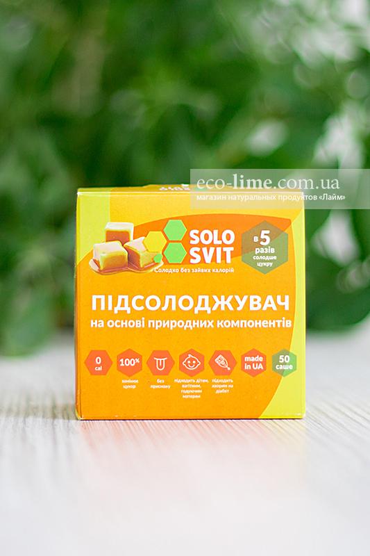 Подсластитель желтый в САШЕ Солосвит+ (аналог Фитпарад №7 ), саше 50 шт