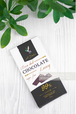 Шоколад экстрачерный 99% без сахара, Аделис, 50 г