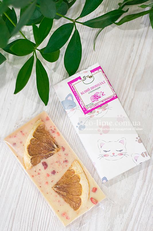 Белый шоколад с клубникой, SweetChoko