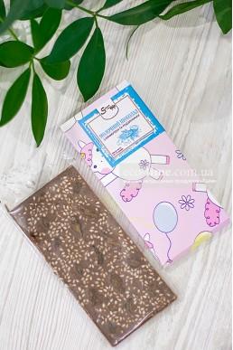 Молочный шоколад с кунжутом и изюмом, SweetChoko