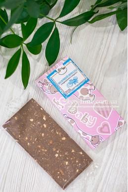 Молочный шоколад с измельченным миндалём, SweetChoko