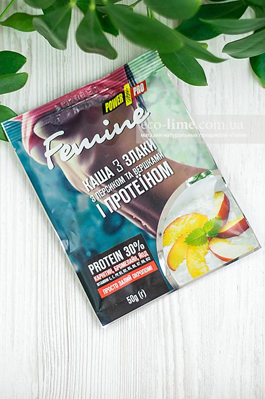 Каша Power Pro 3 злака с персиком и протеином 30%