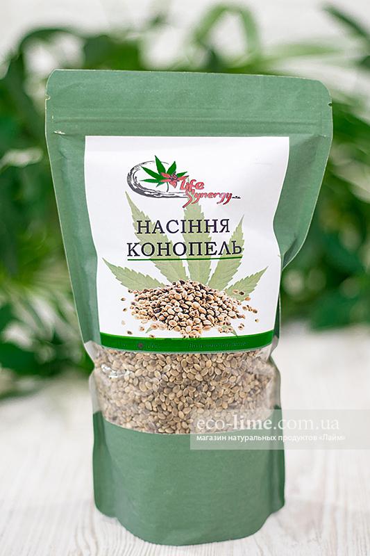 Семена конопли не очищенные, 500г (Лайф Синерджи)