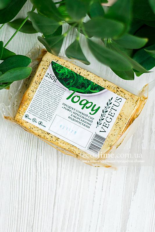 Тофу прессованный с водорослями Vegetus, 250г