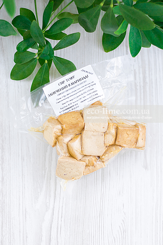 Тофу запеченый в маринаде, ТМ Zdorovo